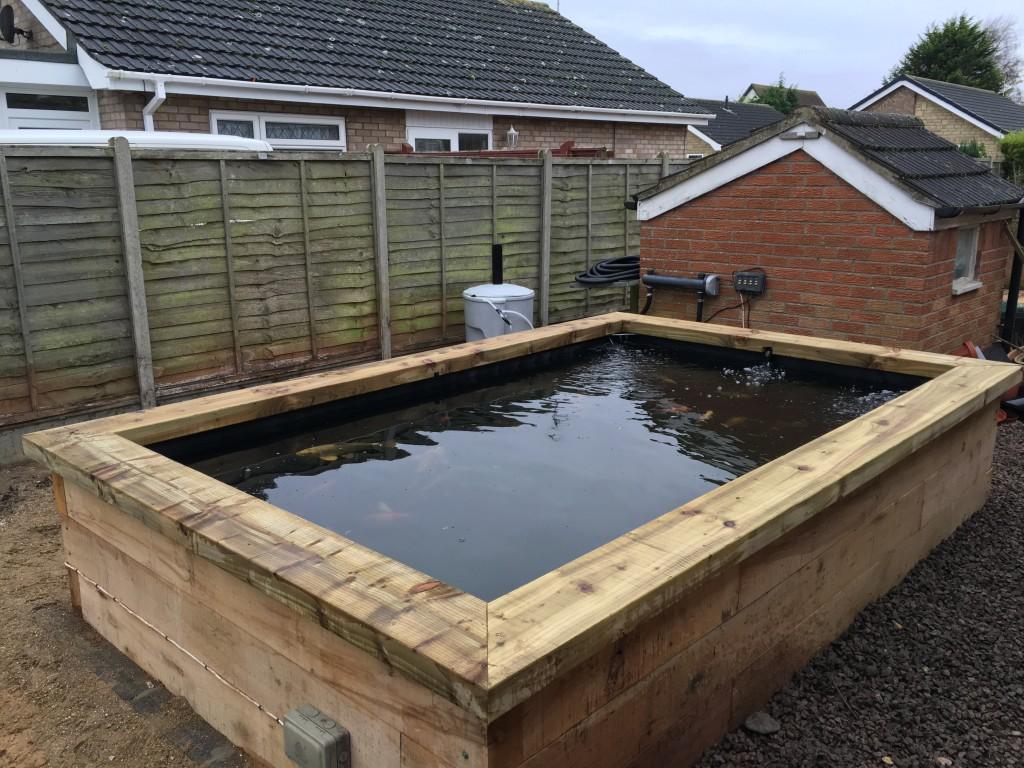 Completed koi pond
