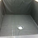Koi pond box liner installed