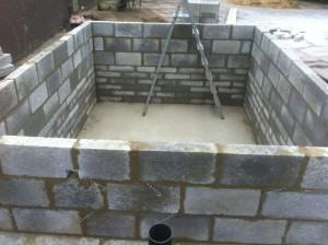 Koi pond internal walls